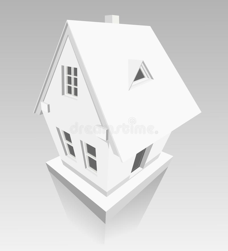 House Made Of Paper On Grey Background Stock Photos