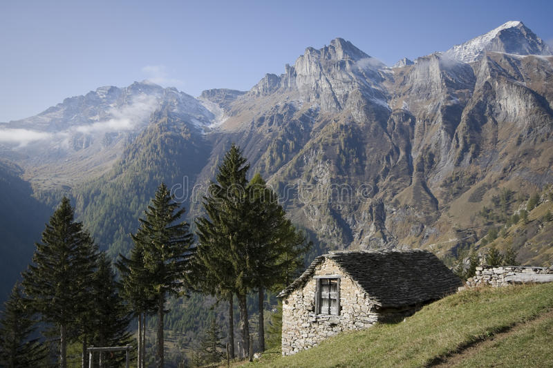 Download House Made Of Stone On The Alps Stock Image - Image: 21746485