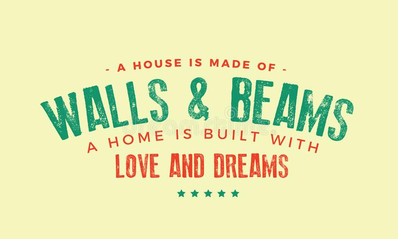 A house is made of walls and beams vector illustration