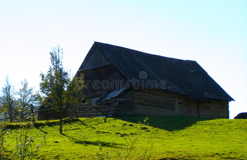 House in the maountains cottage stock photography