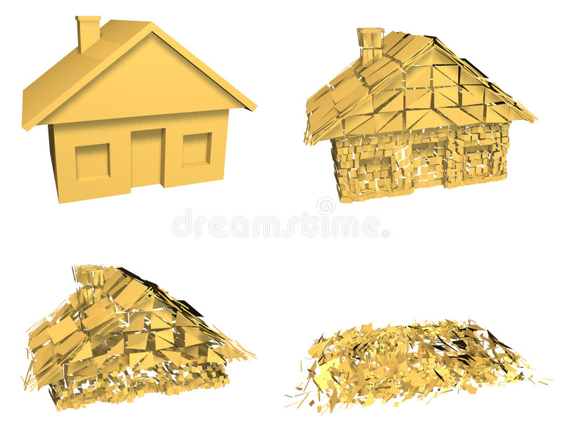 Download House Market Collapse stock illustration. Image of banking - 4026476