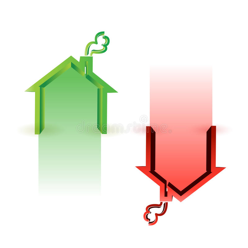 House market up and down stock illustration
