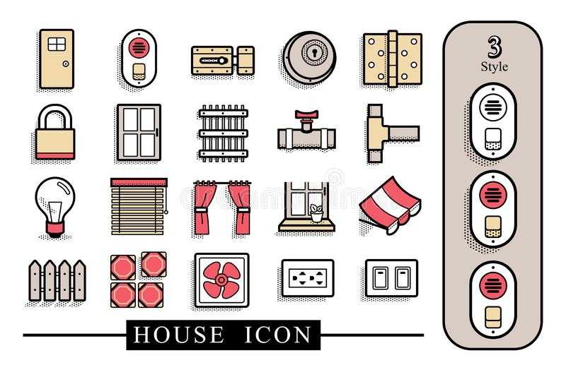 House material icon.The file has separate layers royalty free illustration