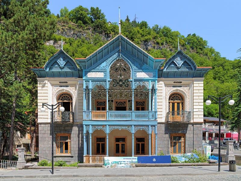 House of Mirza-Riza-Khan in Borjomi, Georgia. House of the Iranian consul Mirza-Riza-Khan (also called as House Phiruza) in Borjomi, Georgia stock photography