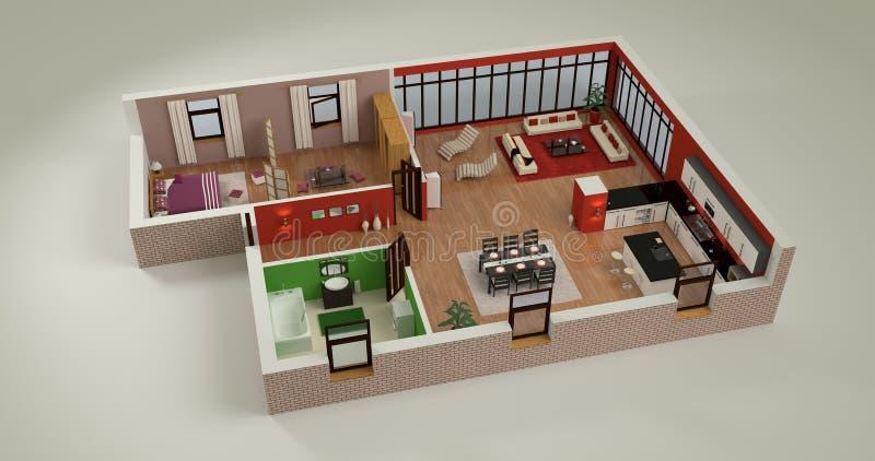 house mockup home plan d modern simple design 56121056
