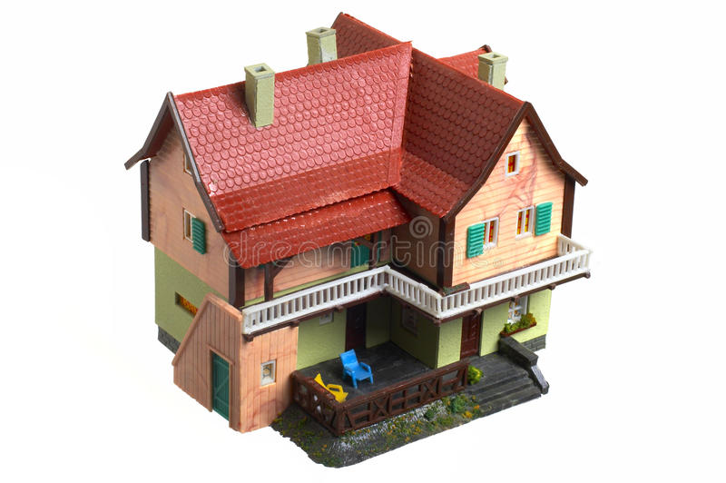 House model. Old house model isolated on white background royalty free stock photos