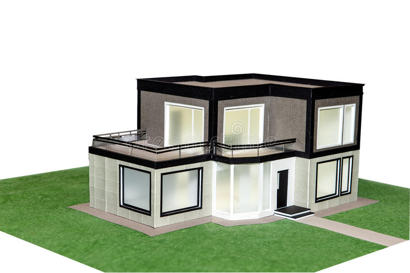 House model 3d. White background stock photo