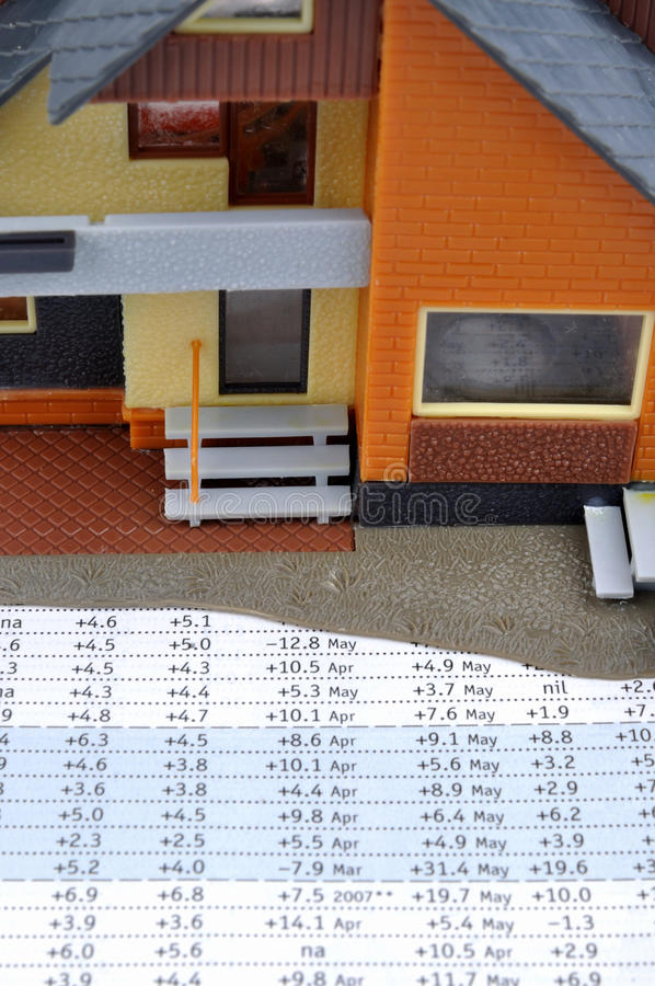 House Model And Data Royalty Free Stock Photos
