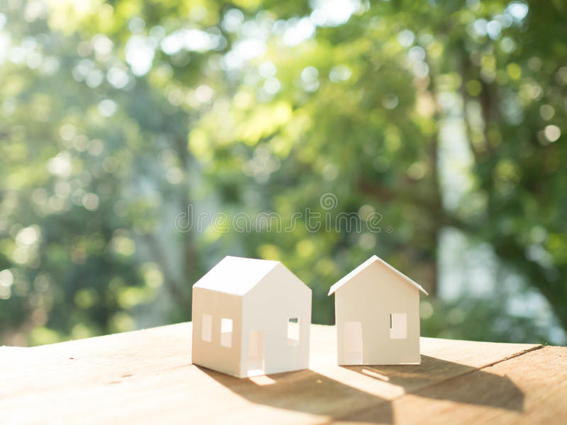 House model. In saving plan for residence royalty free stock image