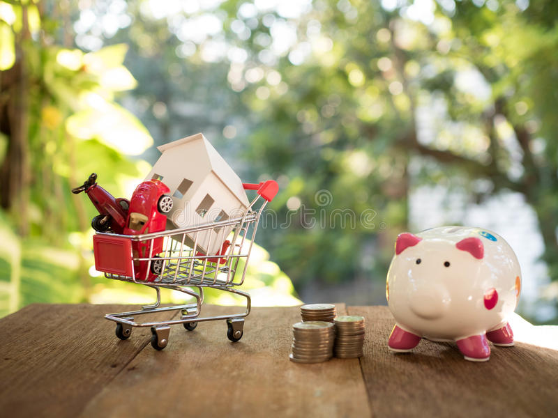 House model. In saving plan for residence stock photo