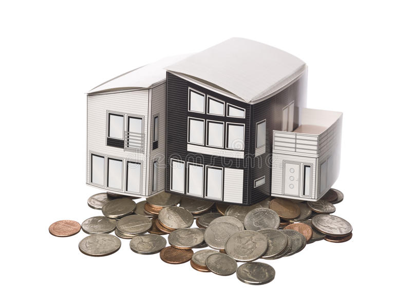 Download House Model Standing On American Coins Royalty Free Stock Photos - Image: 11994268