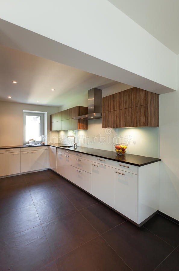 House, modern kitchen stock images
