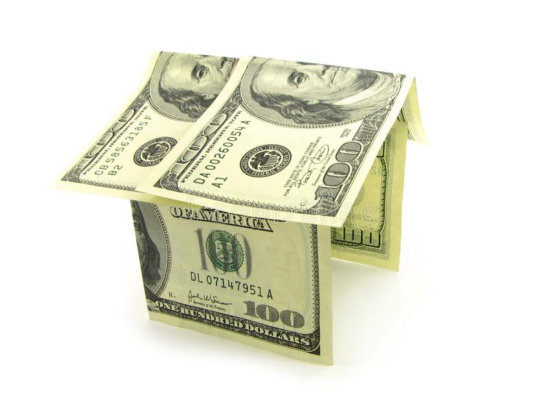 House from the money royalty free stock images