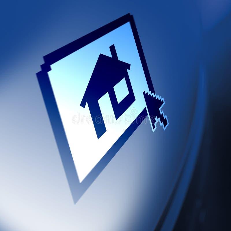 House on monitor. Screen illustration