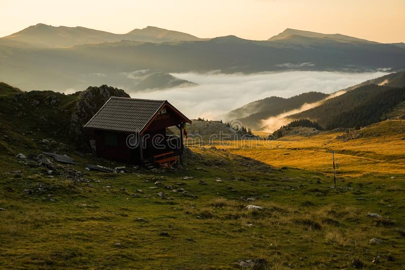 House On Mountain stock photography