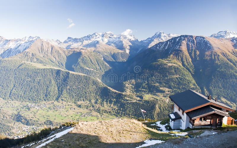 Download House on mountain stock photo. Image of landscape, alpine - 21667134