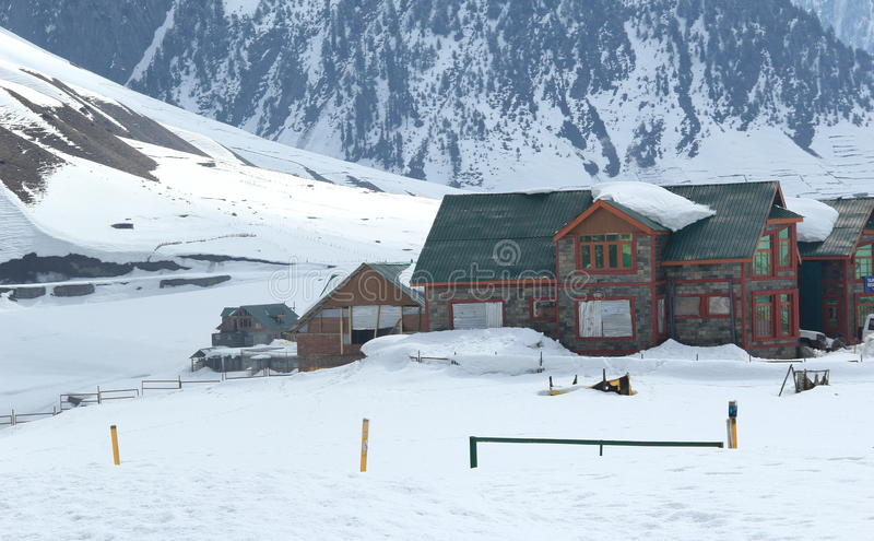 Mountain Hut In Gulmarg. royalty free stock photo