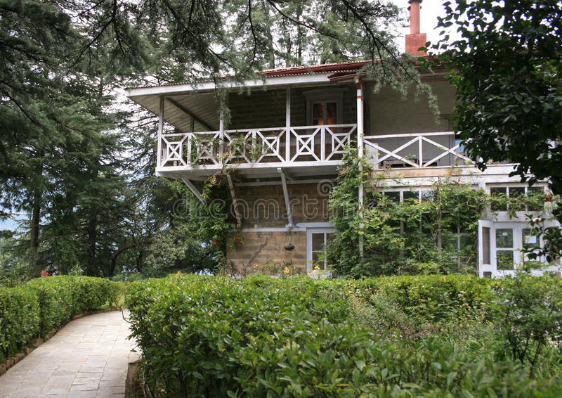 House-Museum of Roerich at Naggar - family homestead of the family in the Kullu valley. House-Museum of Roerich at Naggar - family homestead of the family in stock photo