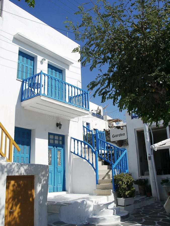 House in Mykonos royalty free stock image