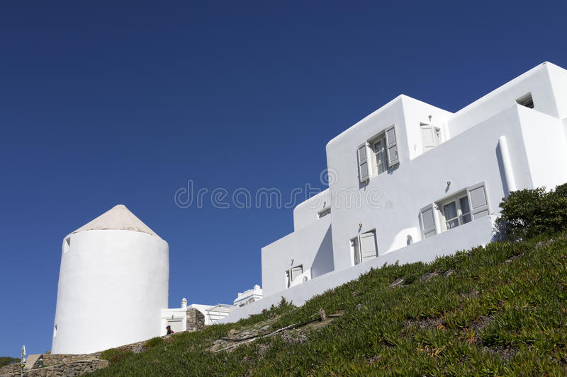 Download House in Mykonos stock photo. Image of lime, flowerpot - 35083214