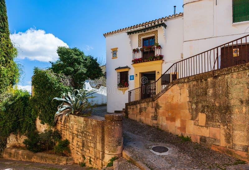House and narrow winding street. royalty free stock photos