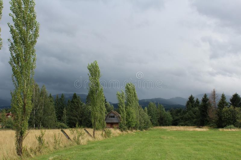 House in nature stock photos