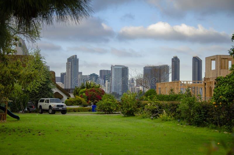 View to San Diego from Coronado California stock photos
