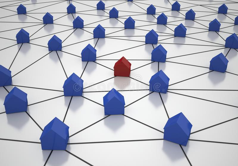 Download House Network Royalty Free Stock Photos - Image: 26570608