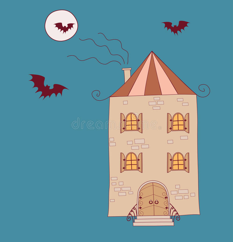 Download House in the night stock vector. Illustration of evil - 16511084