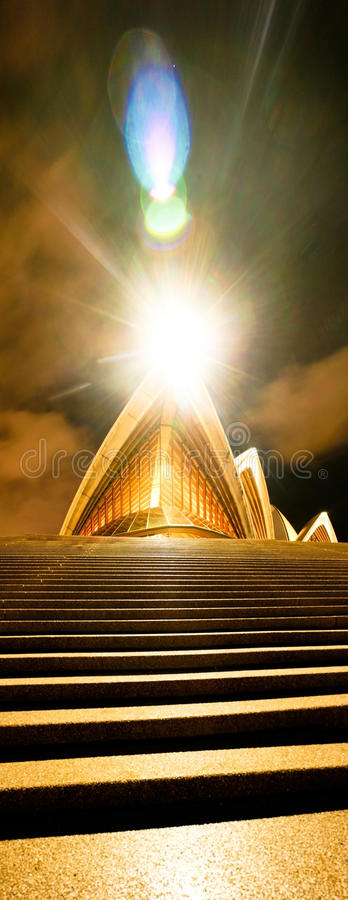house night opera sydney στοκ φωτογραφία