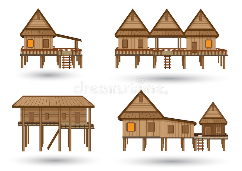 House of northeast thailand stock vector illustration of for Free thai house plans