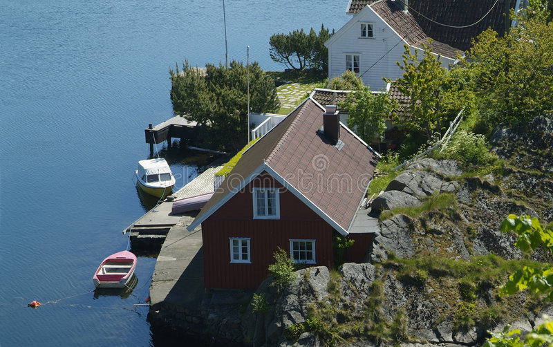 house Norway lato obraz royalty free