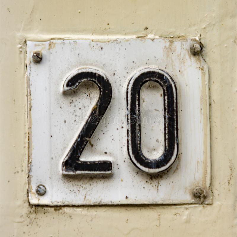 Free House Number 20 Stock Photo - 130062410