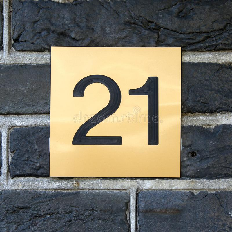 Free House Number 21 Stock Photos - 141233543