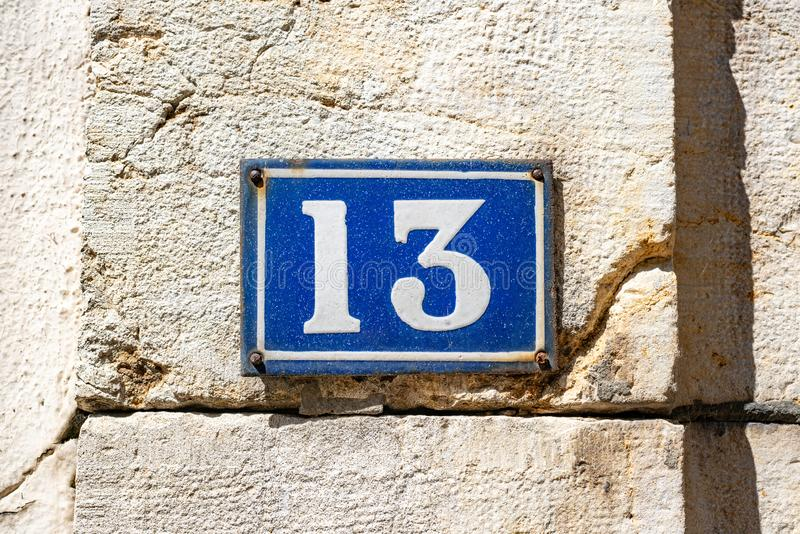 House number 13 royalty free stock photography