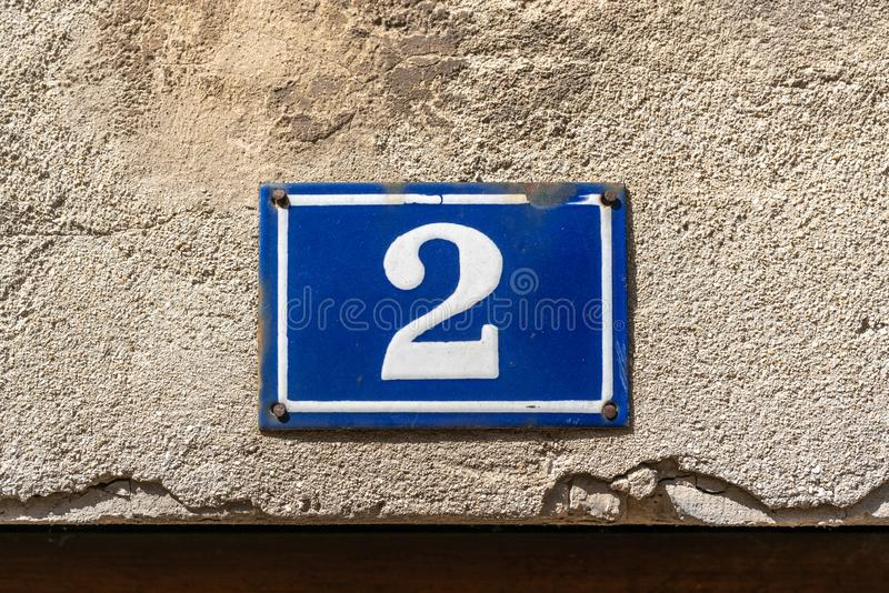 House number 2 royalty free stock image