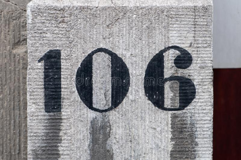 House Number 106 royalty free stock photo