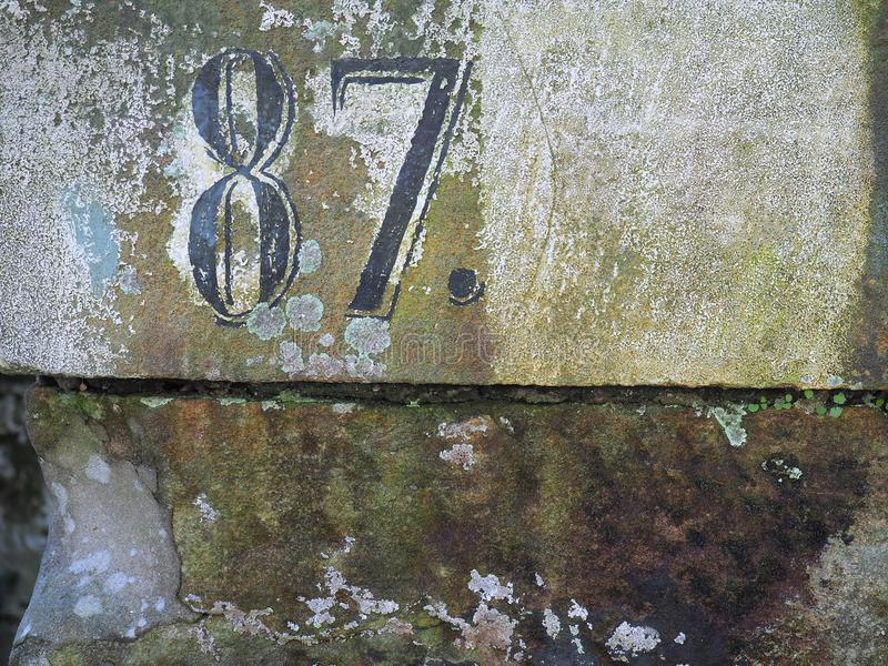 House Number 87 royalty free stock photography