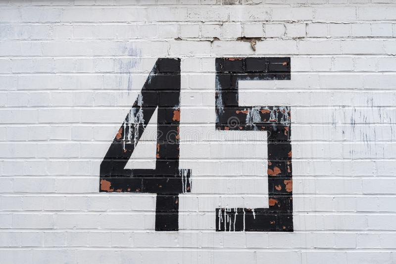 House number 45 stock photos