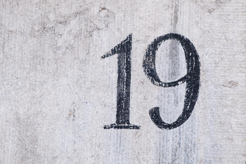 House Number 19 royalty free stock photography