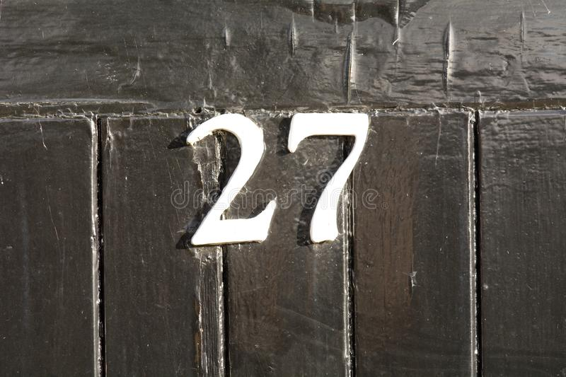 House Number 27 sign stock photos