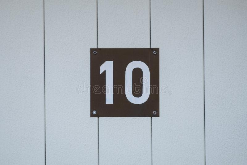 House number 10 royalty free stock photography