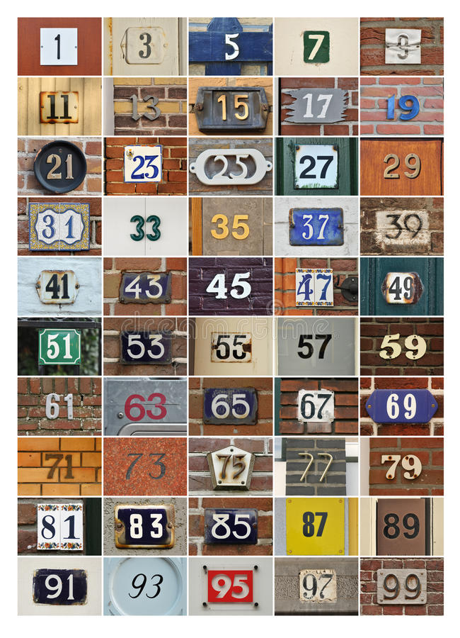 House Numbers Stock Image