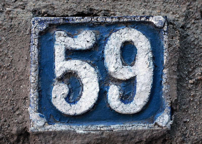 House numbers in different styles and colors. (concept fo royalty free stock image