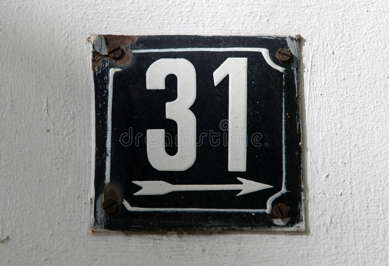 House numbers. In different styles and colors concept for real estate royalty free stock images