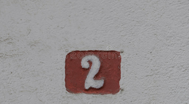 House numbers. In different styles and colors concept for real estate royalty free stock photography
