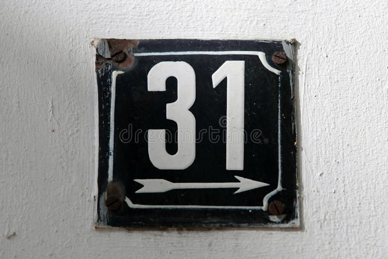 House numbers. In different styles and colors concept for real estate royalty free stock image