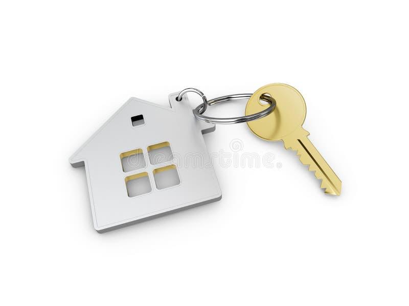 House' nytt hem för s-tangentbegrepp, illustration 3d stock illustrationer