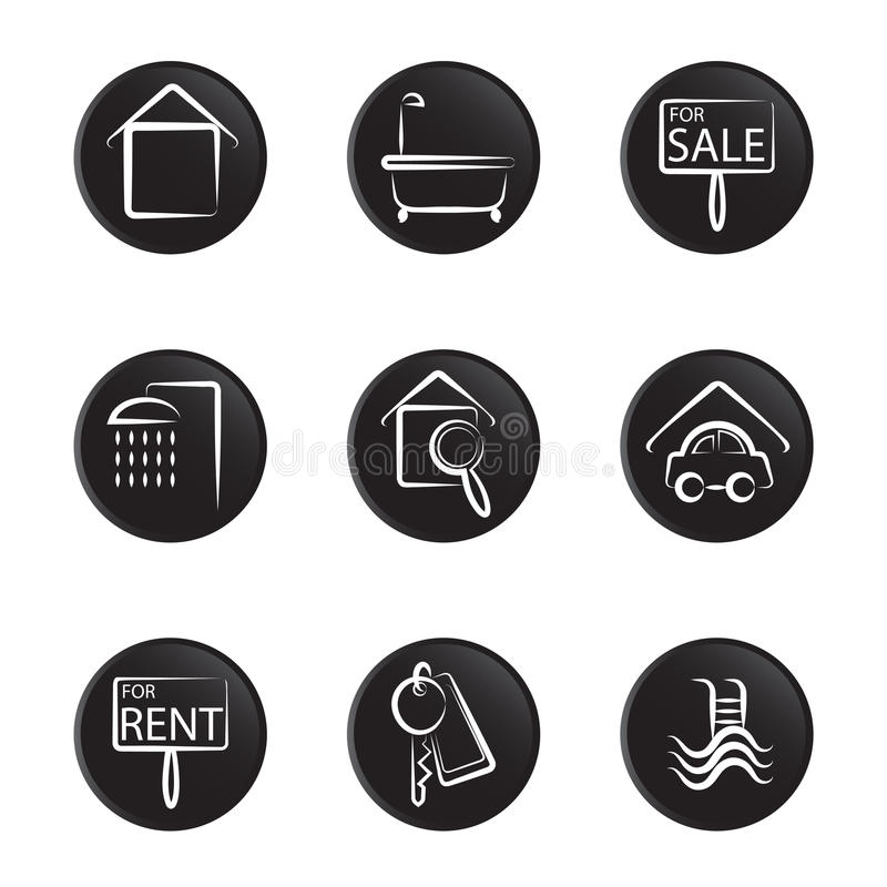 Download House Object Icon Set Royalty Free Stock Image - Image: 10983576