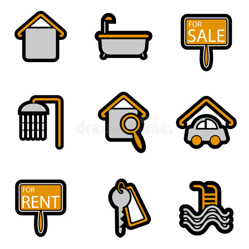 Free House Object Icon Set Vector Stock Image - 11555021